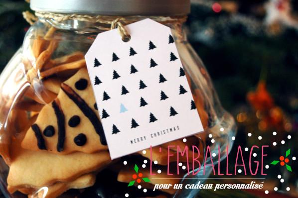 Cadeau gourmand // Petits sablés de Noël // Recette + emballage personnalisé