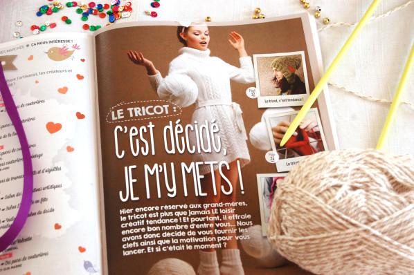 Créative Magazine // Numéro 15 // Janvier-Février 2014 // Dossier spécial tricot