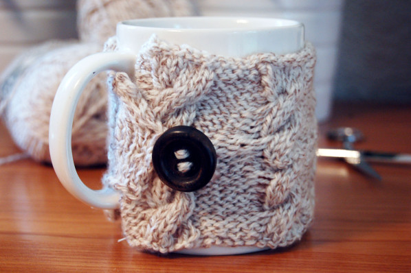 Do it Yourself // DIY // Cache mug en tricot
