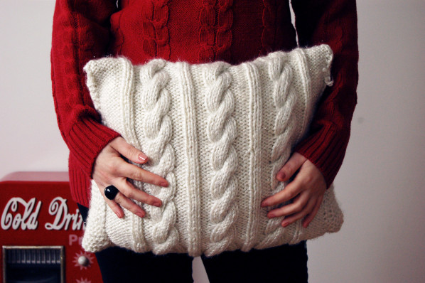 Do it yourself / DIY / Coussin en tricot