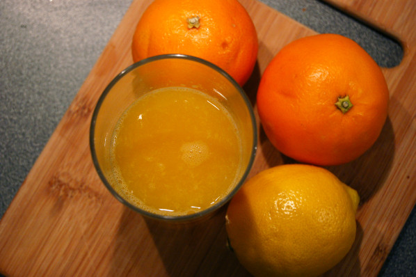 jus d'orange - citron
