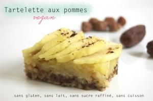 Tartelette aux pommes sans gluten, sans lait, sans sucre raffiné, sans cuisson