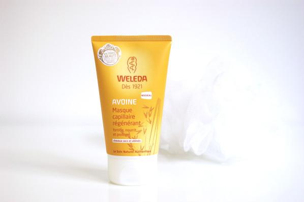Routine cheveux bio et naturelle : Masque régénérant à l'avoine Weleda