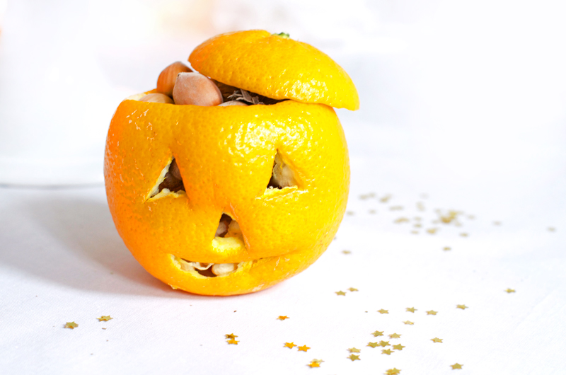 DIY : une orange citrouille d'Halloween