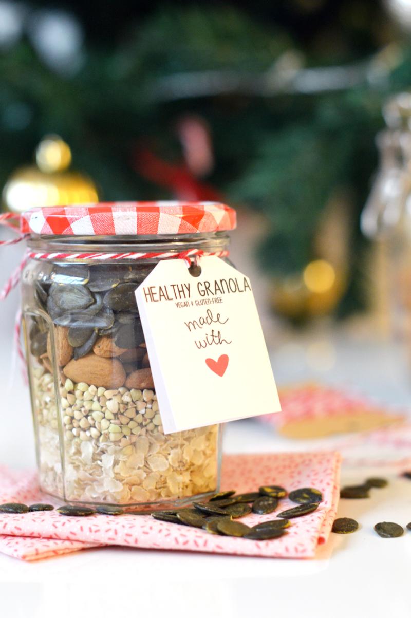 Cadeau gourmand pour Noël : kit pour granola homemade (vegan, sans gluten)