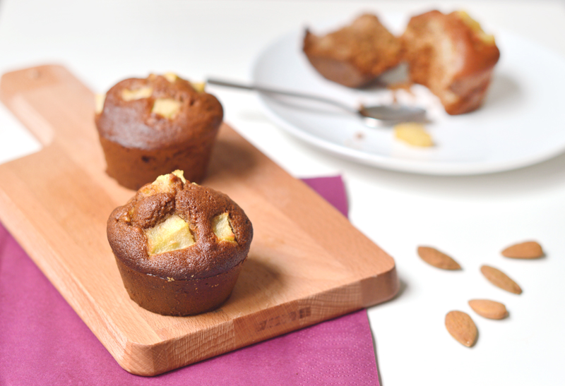 Muffins vegan et sans gluten aux poires