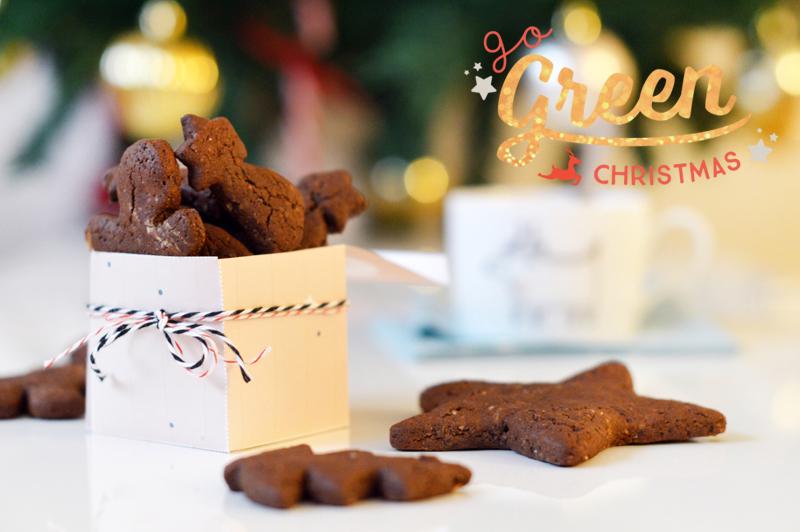 Goûter de Noël : Petits sablés au cacao et à la vanille (vegan, sans gluten)