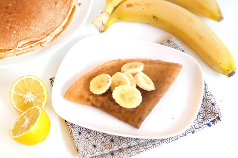 Crêpes vegan et sans gluten aux bananes