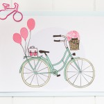 Carte postale bicyclette