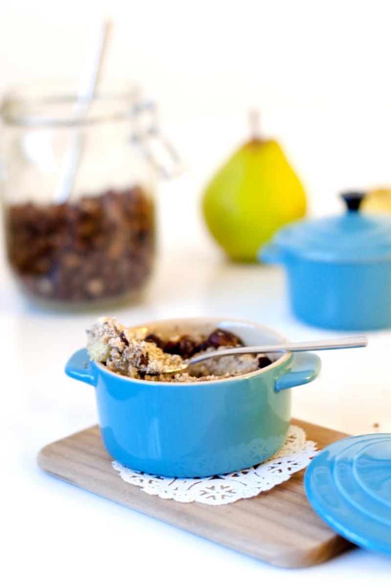 Cook & Blog : les blogueuses cuisinent vegan - recette de crumble poire pomme sans gluten