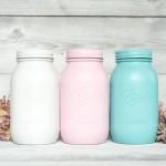 Mason jars pastel