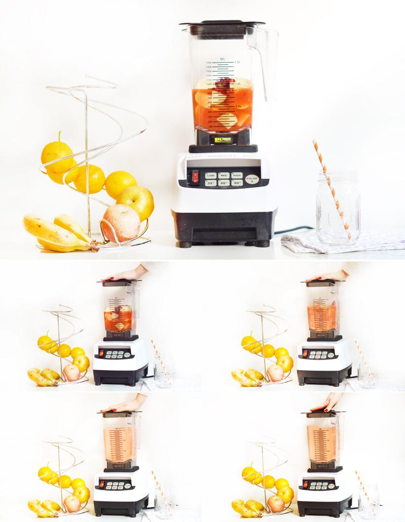 Toutes les étapes de préparation d'un smoothie avec Omniblend V