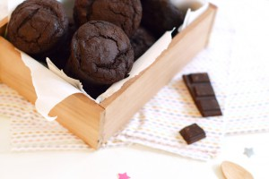 Muffins vegan et sans gluten au chocolat