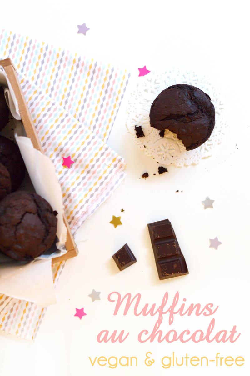 Muffins vegan sans gluten au chocolat