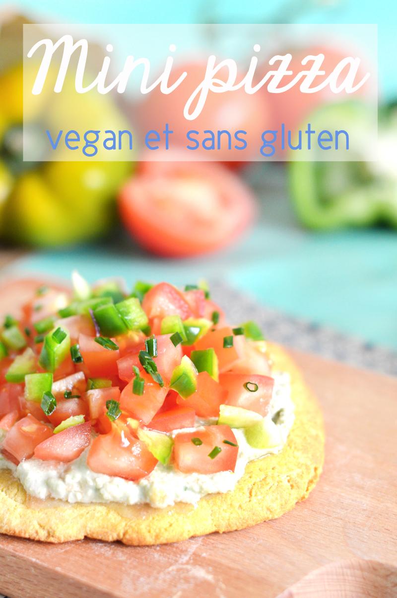 Mini pizza vegan et sans gluten aux légumes de printemps