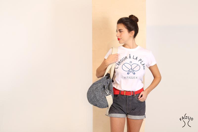 Faguo t-shirt femme l'amour à la plage