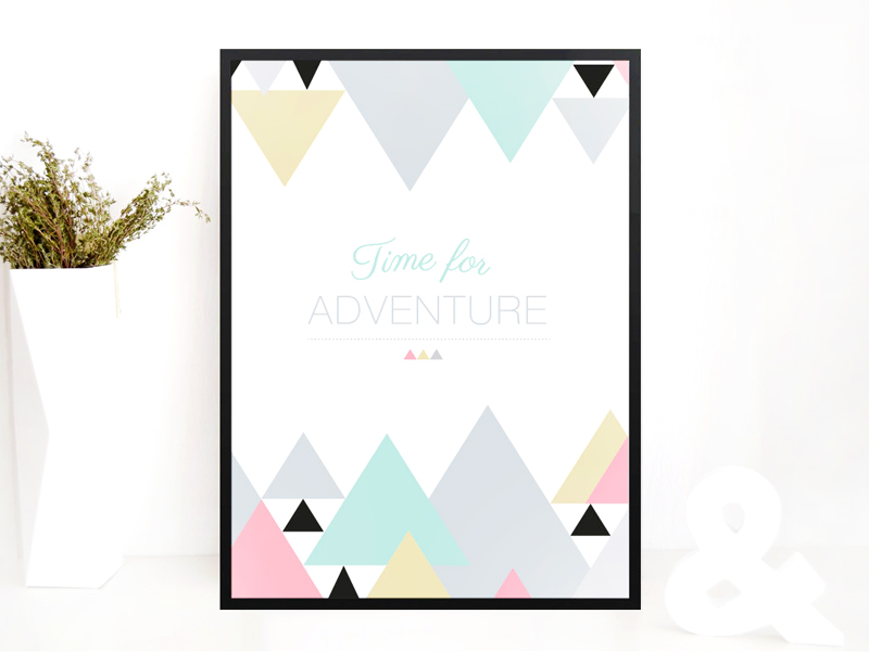 Green and Paper poster time for adventure