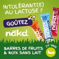 Barres crues Nakd : vegan, sans gluten