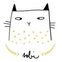 Sobigraphie : porcelaine chats peints à la main