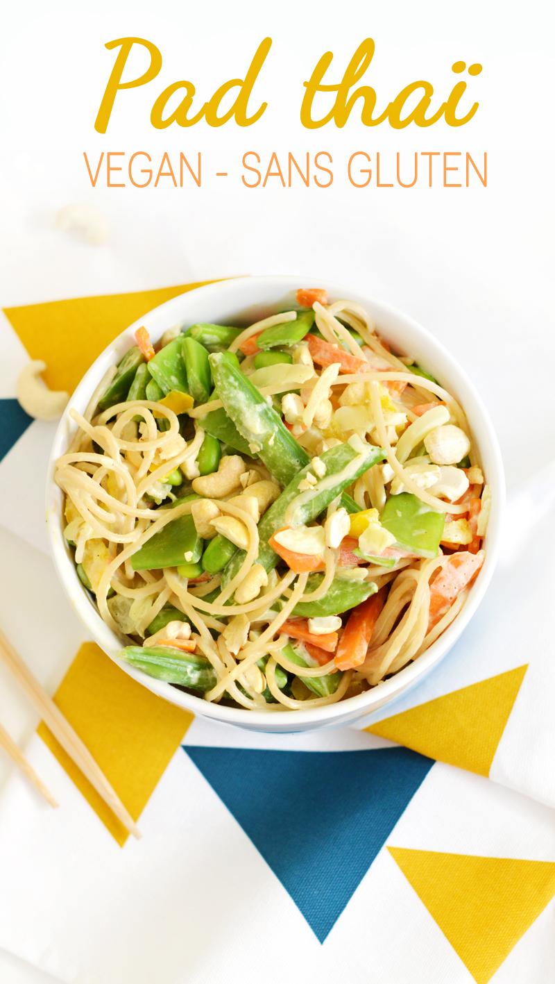Pad thai vegan sans gluten