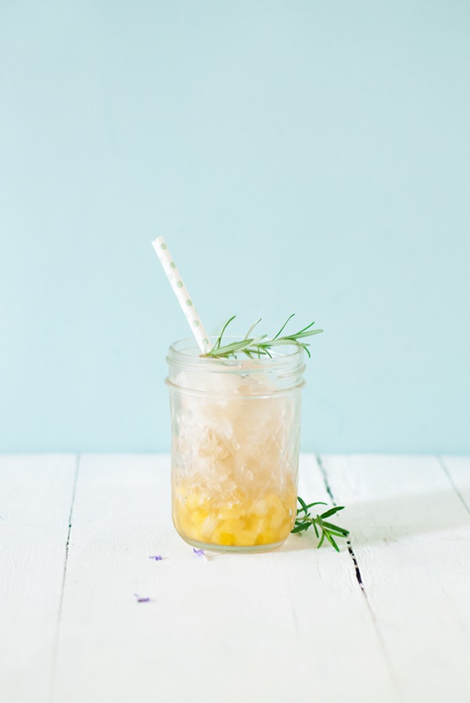 Granité à l'ananas par Laura du blog Leaf