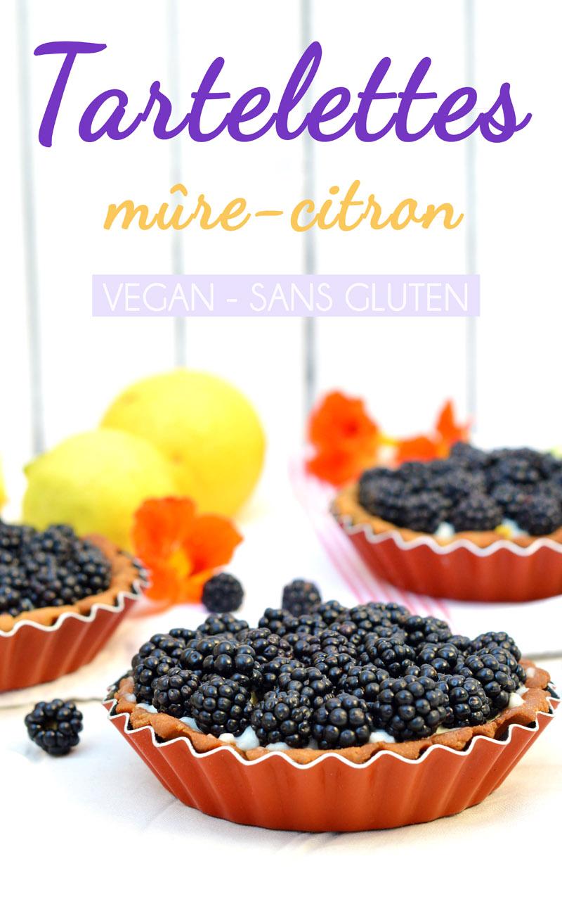 Tartelettes vegan et sans gluten aux mûres sauvages, crème pâtissière au citron (vegan et sans gluten)