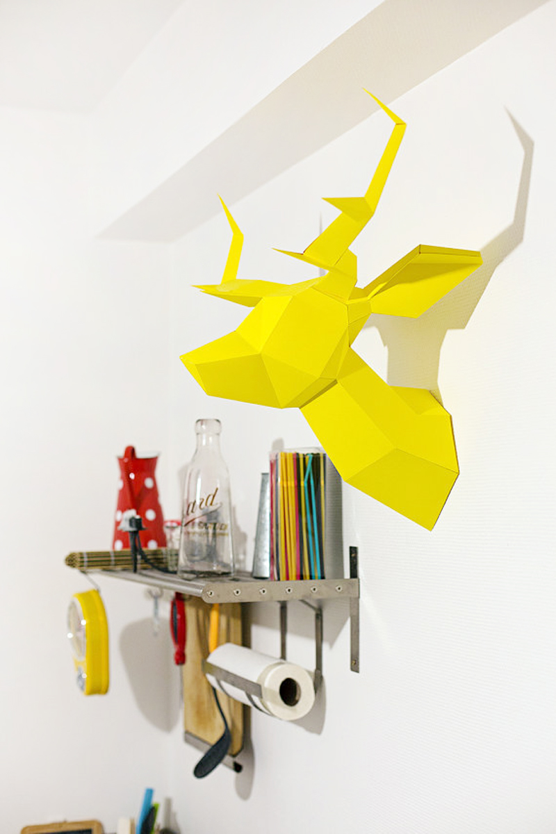 Foldeer - origami deer head