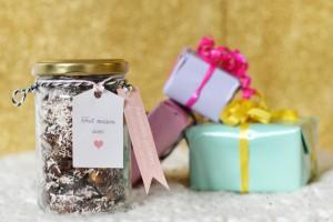 Amandes grillées au chocolat et à la noix de coco