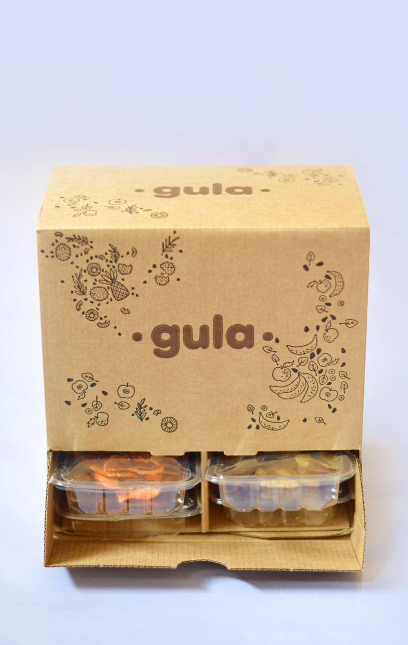 Gula Box : un coffret par mois contenant 16 snacks en portions individuelles, à emporter partout avec soi !