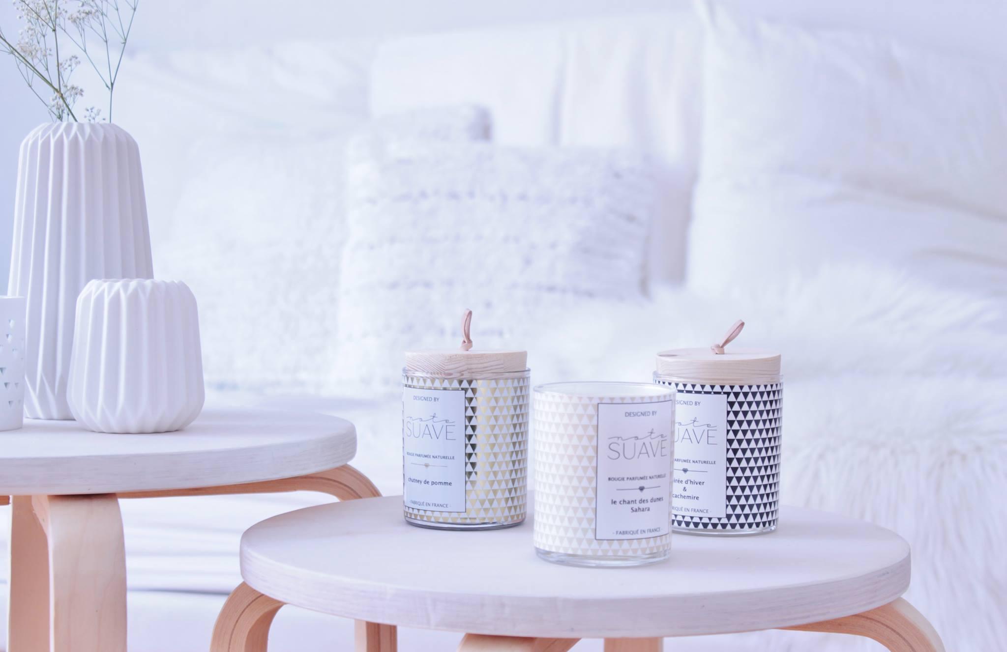 Note suave : bougies parfumées