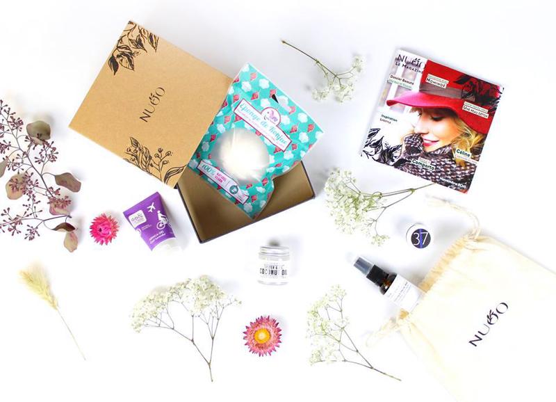 un abonnement à NUOO, la box beauté dédiée exclusivement aux cosmétiques naturels du monde entier