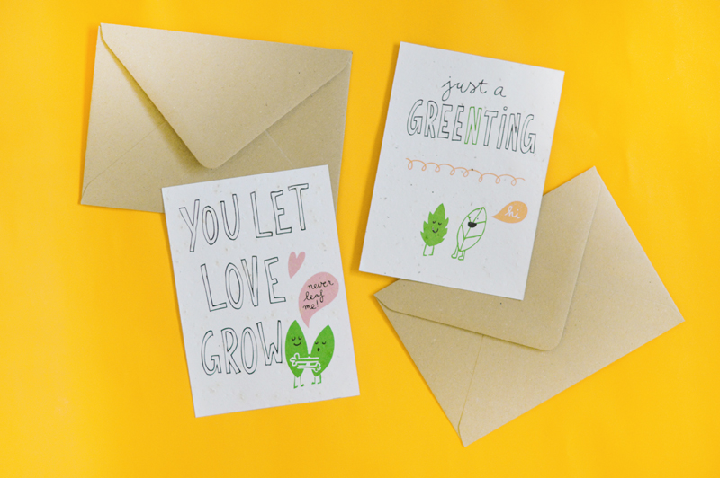 plantable cards by niko niko