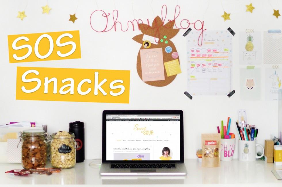 SOS snacks : On peut grignoter malin, se préparer des snacks healthy et combler nos papilles à toute heure, dès qu'elles réclament une petite douceur !