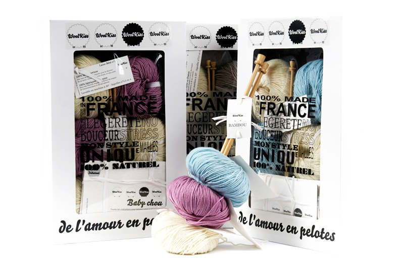 Woolkiss : kit de tricot super easy