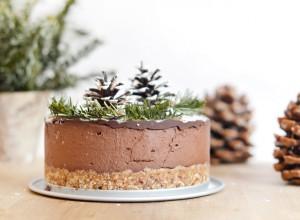 Voilà le dessert que j'ai préparé pour mon repas de Noël cette année : un layer cake chocolat - noix de coco, 100% cru, vegan et sans gluten !