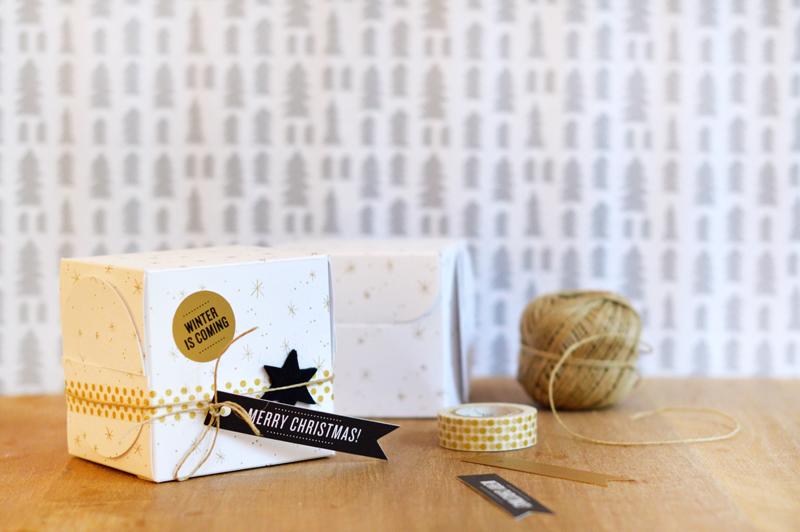 Idées cadeaux green & cool pour chouchouter ses proches le soir de Noël ! (petite boîte et accessoires by Self Packaging)