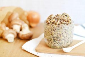 «One pot» : Risotto de quinoa aux champignons (vegan, sans gluten)