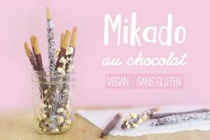 Mikado au chocolat (vegan, sans gluten)