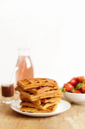 gaufres vegan et sans gluten recette facile et rapide sweet sour healthy happy living
