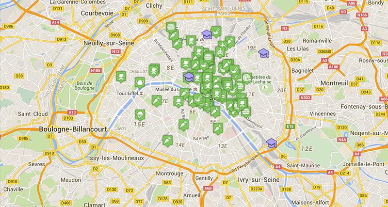 VG carte de Paris par Sébastien et Laura de VG Zone