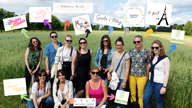 Blogtrip aux jardins de Weleda : photo de groupe