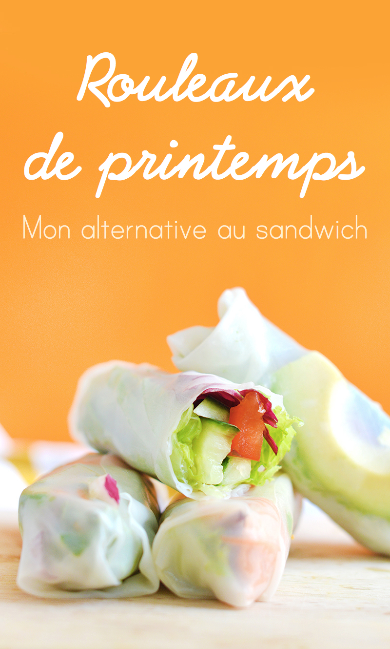 Si comme moi, vous en avez marre de l'éternel sandwich qu'on ressort à chaque pique-nique, vous allez adorer monalternative toute fraiche et facile à préparer : les rouleaux de printemps aux légumes ! (vegan, sans gluten)