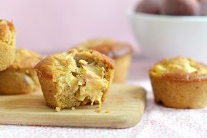 Muffins aux pêches (vegan, sans gluten)