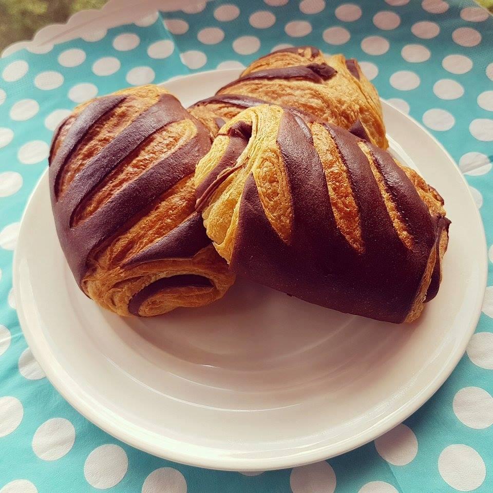 Pains au chocolat de Bérénice Lecomte, créatrice de VG pâtisserie, la 1ère pâtisserie vegan et sans gluten à Paris !