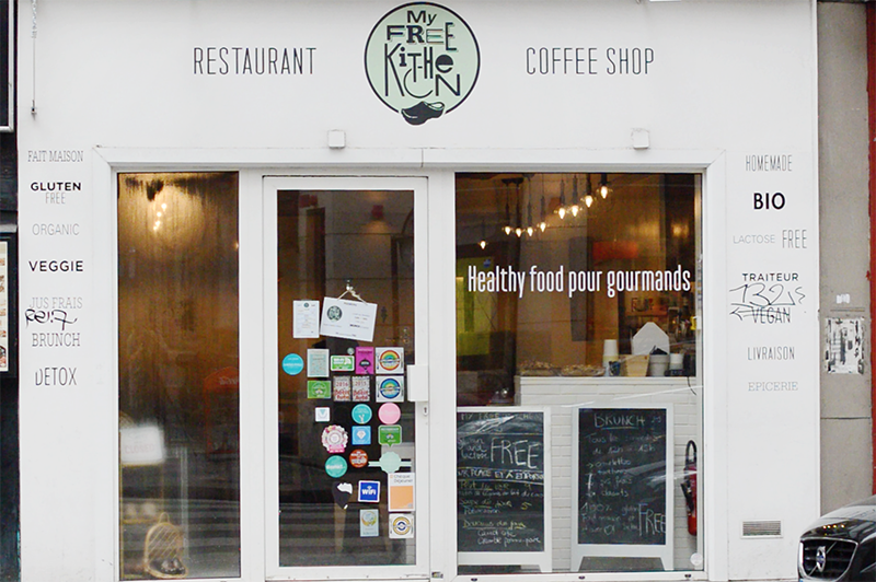 Rendez-vous chez My Free Kitchen, l'un de mes restaurants préférés à Paris pour déjeuner ! 100% bio, sans gluten, sans lactose avec des tas d'options vegan !