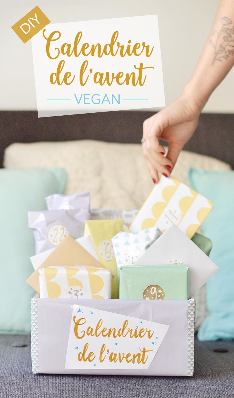 Pour attaquer le mois de décembre, je vous propose de fabriquer un calendrier de l'avent vegan ! Une chouette idée à offrir ou à garder pour soi !