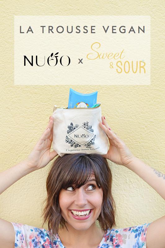 Je suis ambassadrice vegan NUOO ! Découvre la trousse beauté 100% vegan NUOO x Sweet & Sour qu'on a élaborée ensemble !