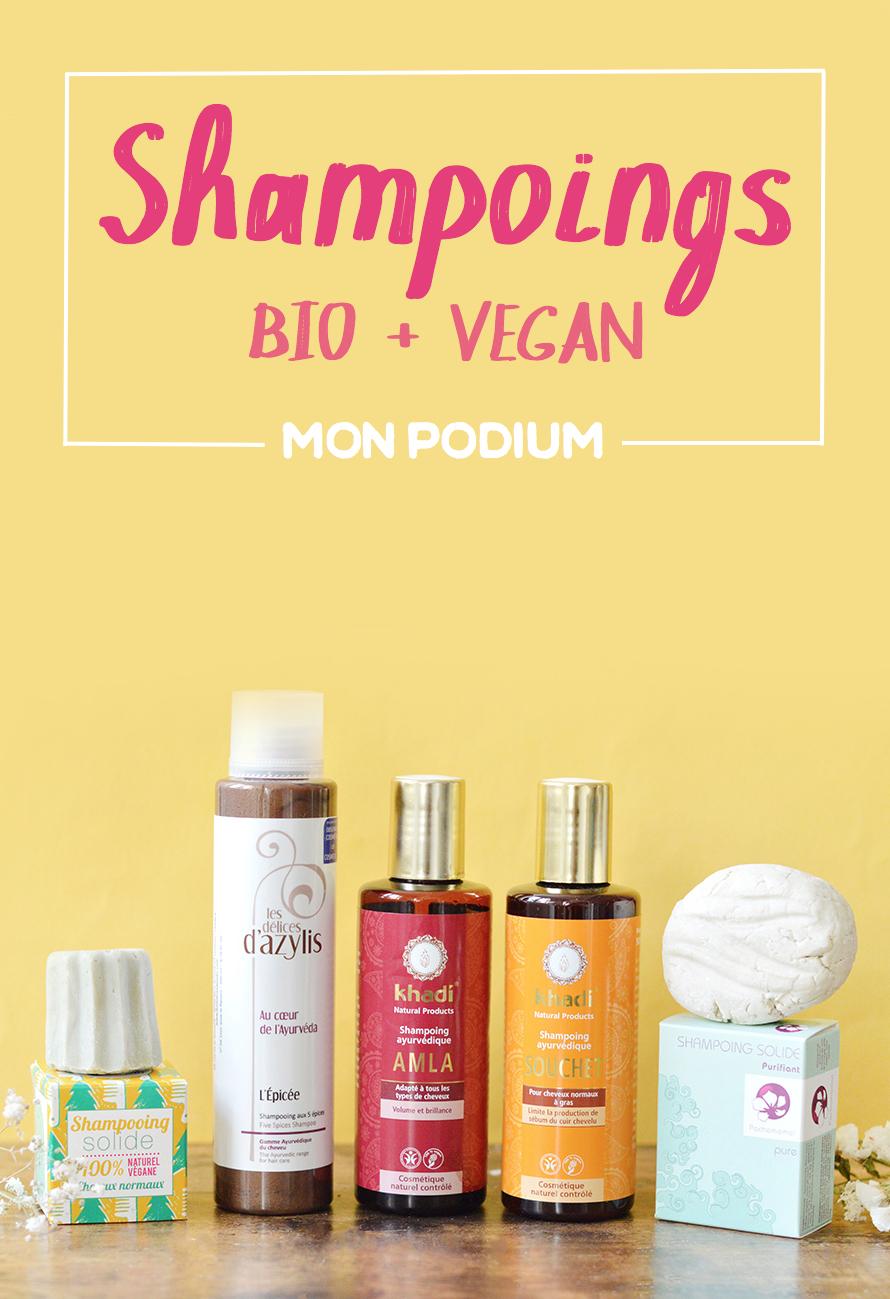 Beaucoup de shampoings bio et vegan sont passés à la casserole depuis que je me suis mise au naturel mais seuls les meilleurs restent ! Voici mon top 5 avec les shampoings bio et vegan que je rachète en permanence !
