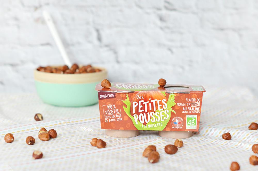 Voici des glaces noisette-chocolat hyper faciles à réaliser avec les nouveaux yaourts vegan noisette Les Petites Pousses : pas de blender ou de machine à glace nécessaire ! C'est vegan, sans gluten et healthy !