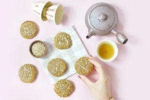 Biscuits au shiro miso et au sésame (vegan)